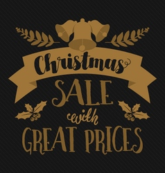 Christmas and seasonal retail poster vector