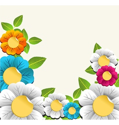Colorful nice flower background vector