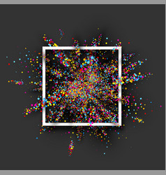 Colour paint explosion on grey vector