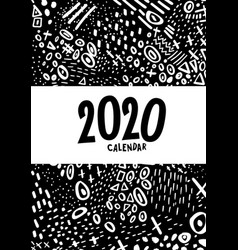 Cover colorful monthly calendar for 2020 year vector