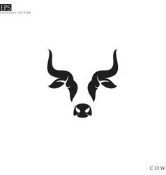 cow logo vector image