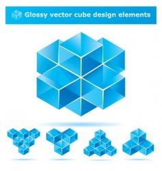 cube design elements vector image