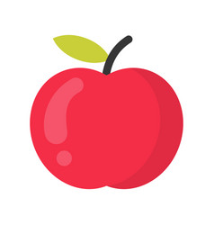 Cute apple fruit isolated colorful icon vector