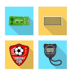 Design of soccer and gear sign collection vector