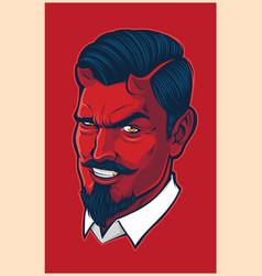 Devil head mascot vector