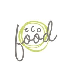 Eco Food Label Design vector