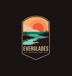 emblem patch logo everglades national park vector image