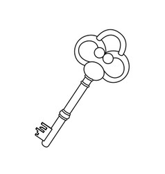 Figure old key icon stock vector