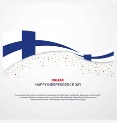 Finland happy independence day background vector