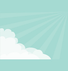 fluffy cloud in corners frame template blue sky vector image