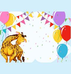 fun giraffe party scene vector image