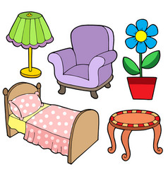 Furniture collection 1 vector