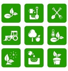 garden green icons vector image