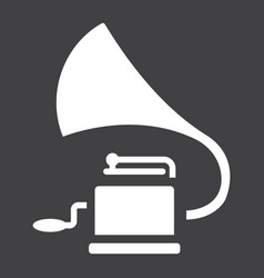 Gramophone glyph icon music and instrument vector