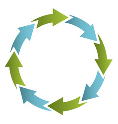 Green and blue cycle icon vector