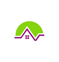 green house environment logo vector image