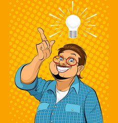 Guy with idea vector