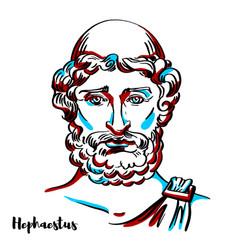 hephaestus portrait vector image