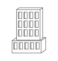 hotel building icon monochrome silhouette vector image