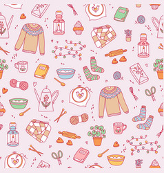 Hygge cozy pattern vector