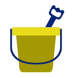 isolated sand bucket toy icon vector image