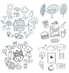 Kid doodle Drawing vector