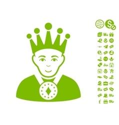 King Icon With Free Bonus vector