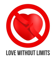 Love without limits vector image