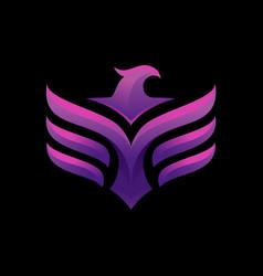 Luxury phoenix logo concept phoenix logo vector