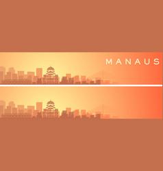 Manaus beautiful skyline scenery banner vector