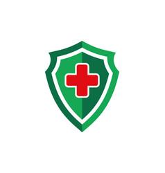 medical shield health guard protection logo icon vector image