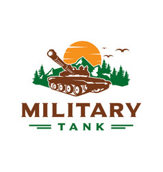 military tank logo design vector image