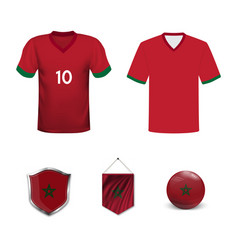 Mockup africa football jersey concept vector