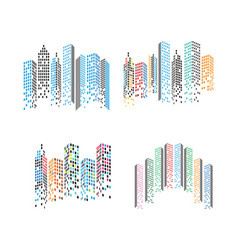 modern city skyline city silhouette in flat vector image