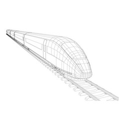 modern speed train silhouette vector image