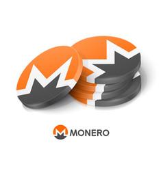 Monero cryptocurrency tokens vector