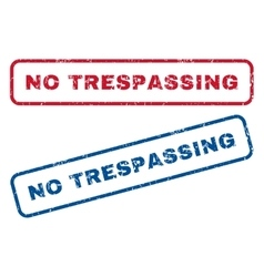 No Trespassing Rubber Stamps vector