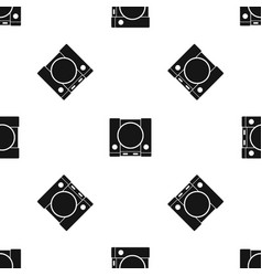 Playstation pattern seamless black vector