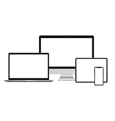 realistic computer digital devices vector image