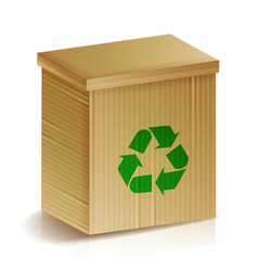 Recycle box realistic blank ecologic craft vector