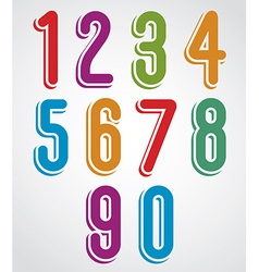 Rounded numbers set collection vector