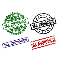 Scratched textured tax avoidance stamp seals vector