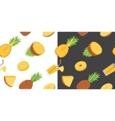 Seamless pattern with pineapples Pineapple vector