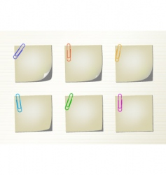 Set notepad pages and clips vector