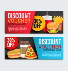 Set od discount gift vouchers vector