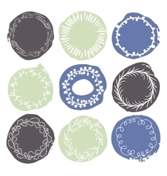 Set of 9 decorative wedding or romantic elements vector image
