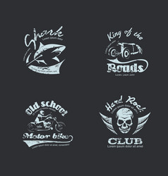 set retro vintage logotypes vector image