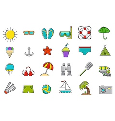 set vation icons vector image