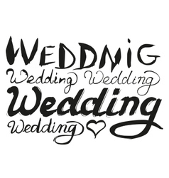 Set wedding lettering text for greeting card vector