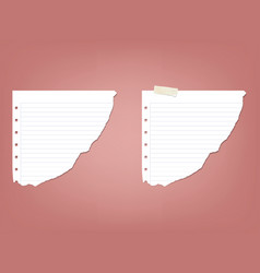 sheet page in a strip of notepad notebook vector image